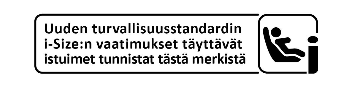 i-Size standardin tunnistat tästä merkistä