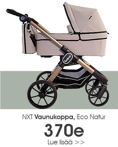 Emmaljunga ECO Natur vaunukoppa - muuta ratas näppärästi vaunuksi. Nyt Lastentarvikkeesta 370e hintaan