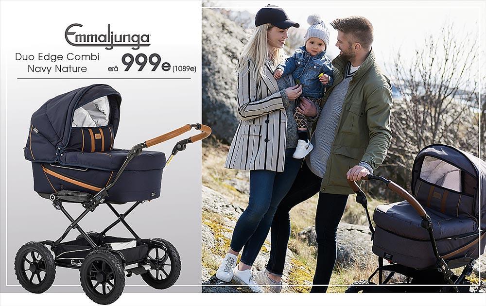 Emmaljunga Edge yhdistelmäpaketti nyt Lastenatrvikkeesta vain 999e (1089e, rajoitettu erä)