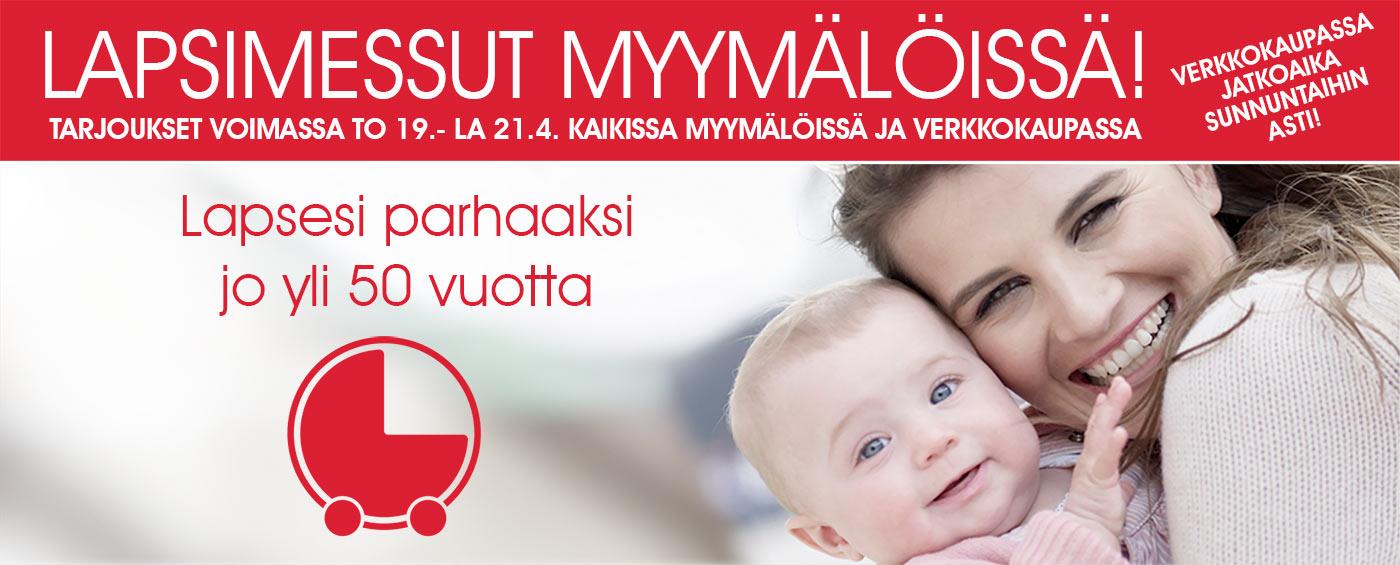 Lapsimessut Lastentarvikkeessa 19.-21.4: Katso kaikkien myymälöiden yhteystiedot