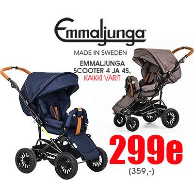 Emmaljunga Scooter 4 ja 4S nyt messuhintaan Lastentarvikkeesta