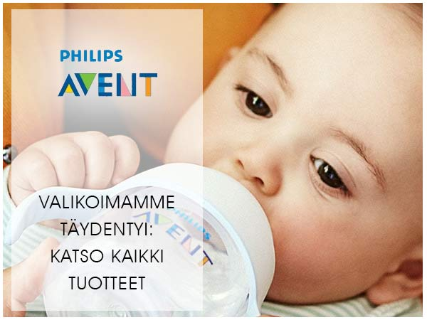 Philips Avent valikoimamme monipuolistui: Katso täydellinen Lastentarvike Avent -valikoima.