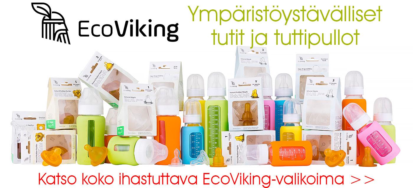 Ympäristöystävälliset EcoViking tutit ja tuttipullot nyt Lastentarvikkeesta