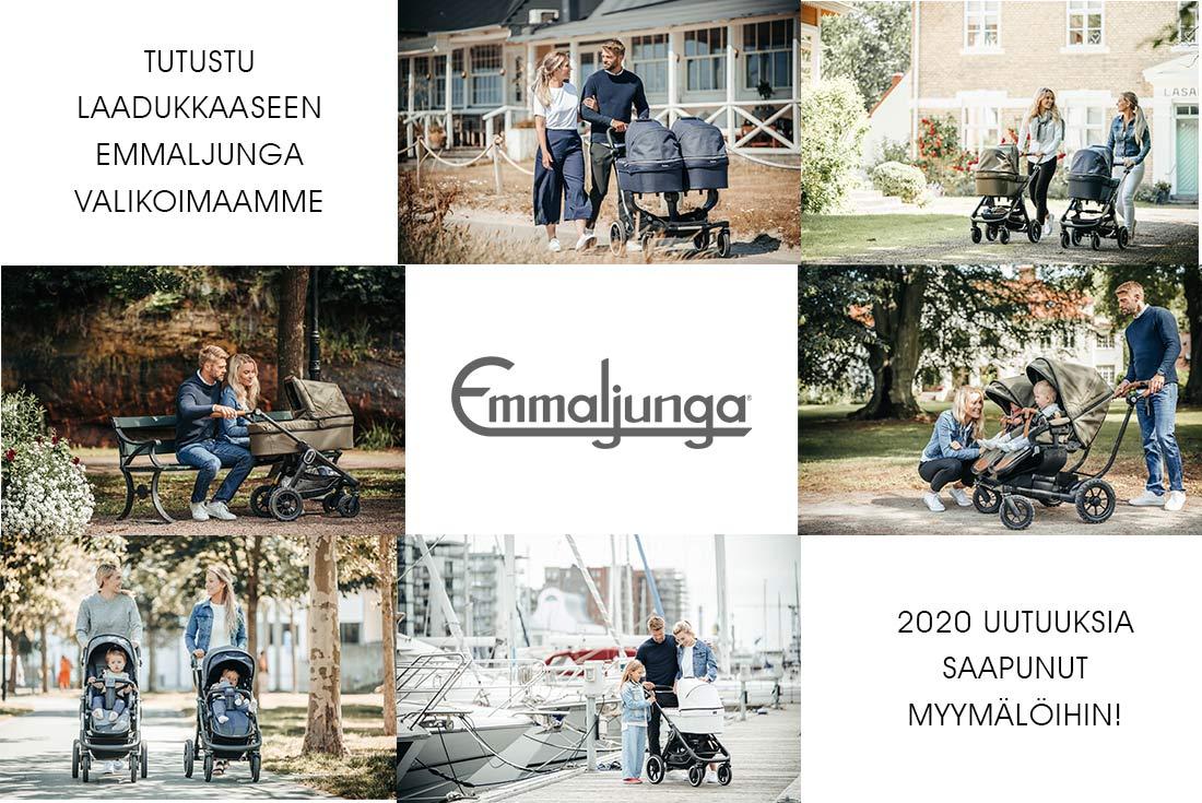 Emmaljunga 2020 valikoima Lastentarvike-myymälöistä. Turtustus koko laajaan Emmaljunga valikoimaamme tästä.