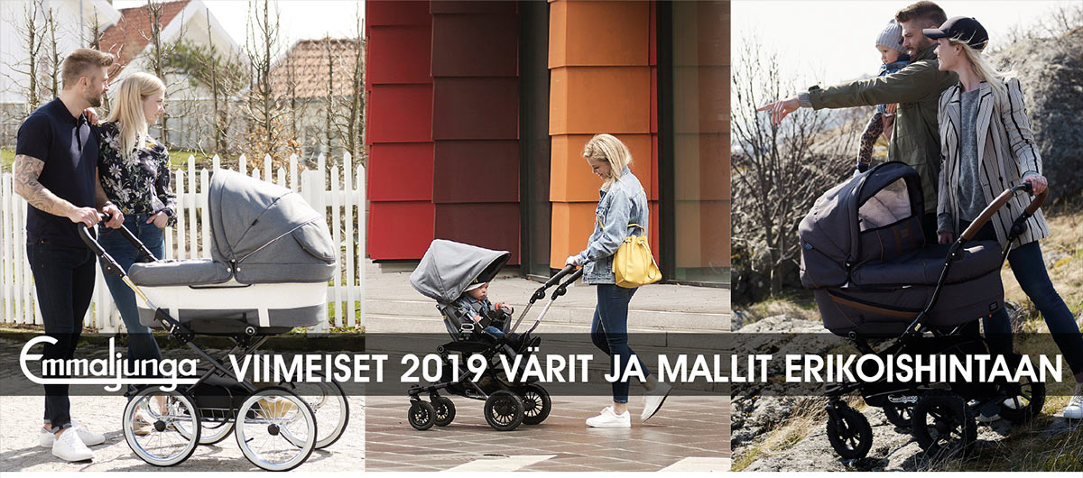 Lastentarvike myy pois loput Emmaljunga 2019 värit ja mallit erikoishintaan