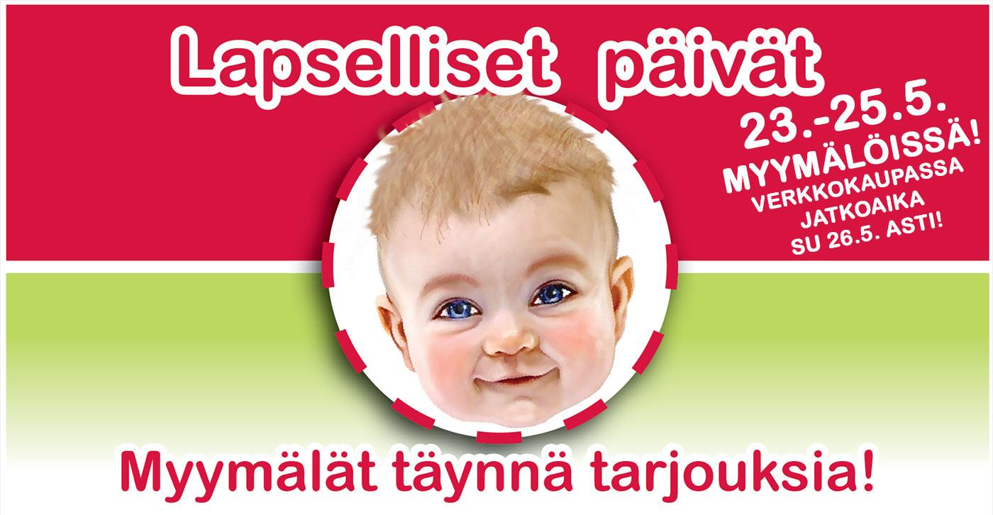 Lapselliset Päivät Lastentarvikkeessa 23.-26.5!