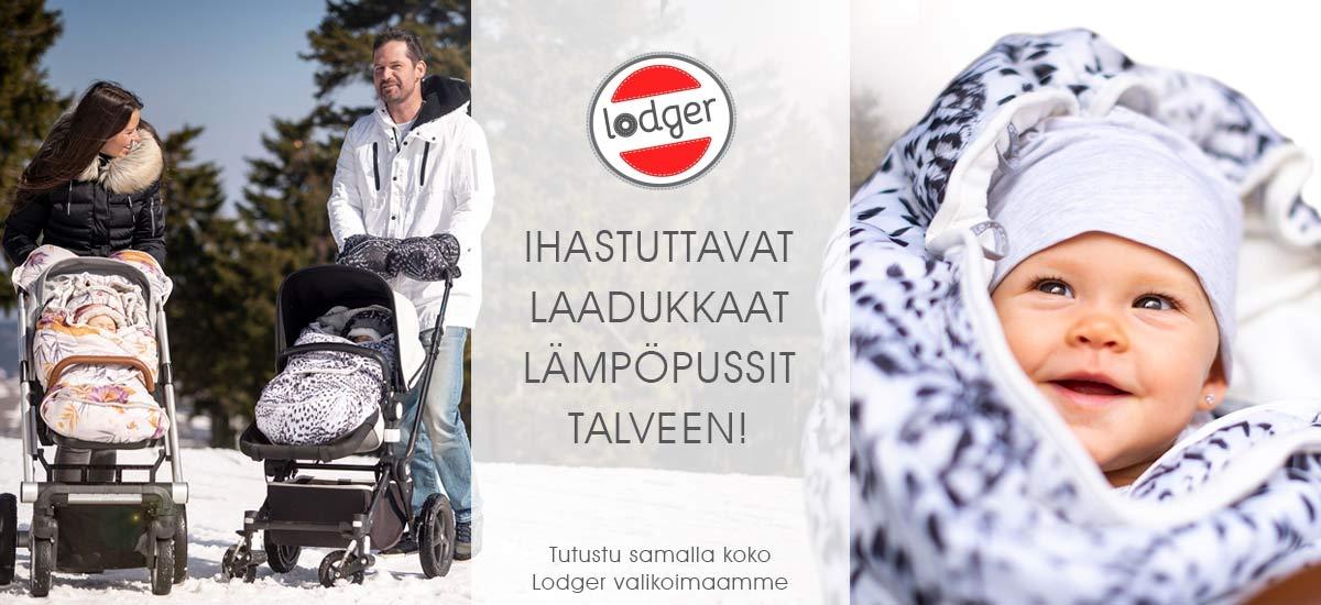Lodgerilta löydät avun talve kylmään! Lisäksi valikoimissa paljon miellyttäviä tuotteita pienokaisen arkea ihastuttamaan.