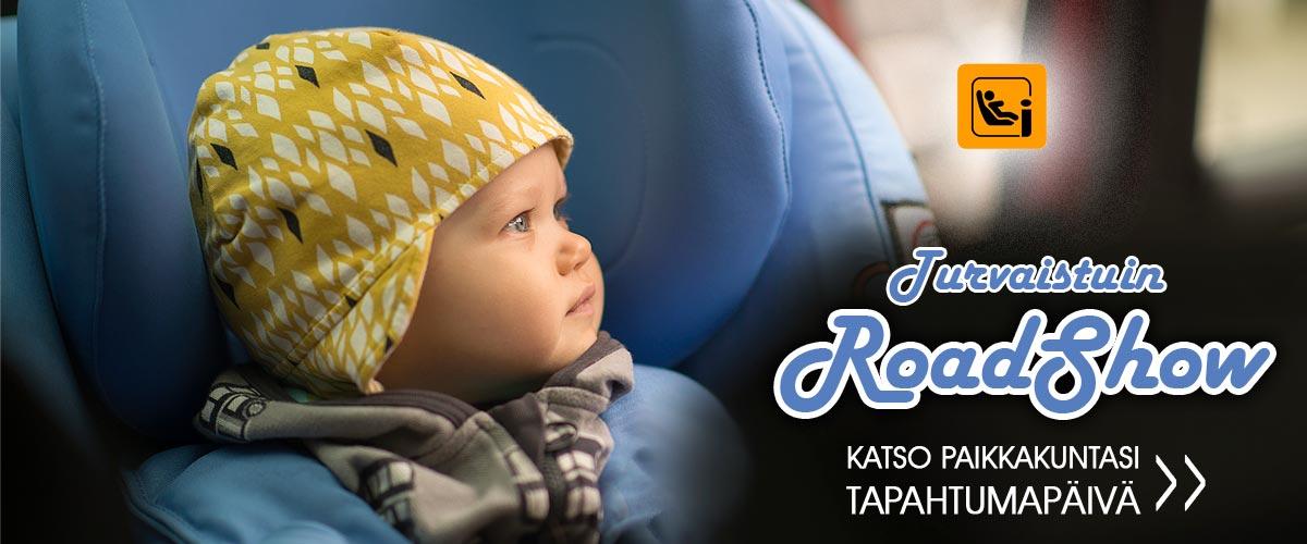 Suomen suurin turvaistuintapahtuma on taas täällä! Katso linkistä paikkakuntasi tapahtumapäivä, ja tule hyödyntämään asiantuntijoiden apu, sekä huipputarjoukset!