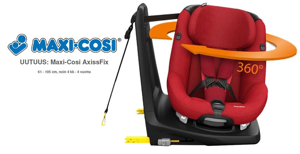 Maxi-Cosin 360 astetta kääntyvä turvaistuin 61-105cm lapselle.