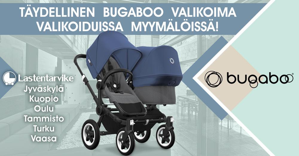 Bugaboo valikoima saatavilla nyt myös valikoiduista Lastentarvike-myymälöistä!