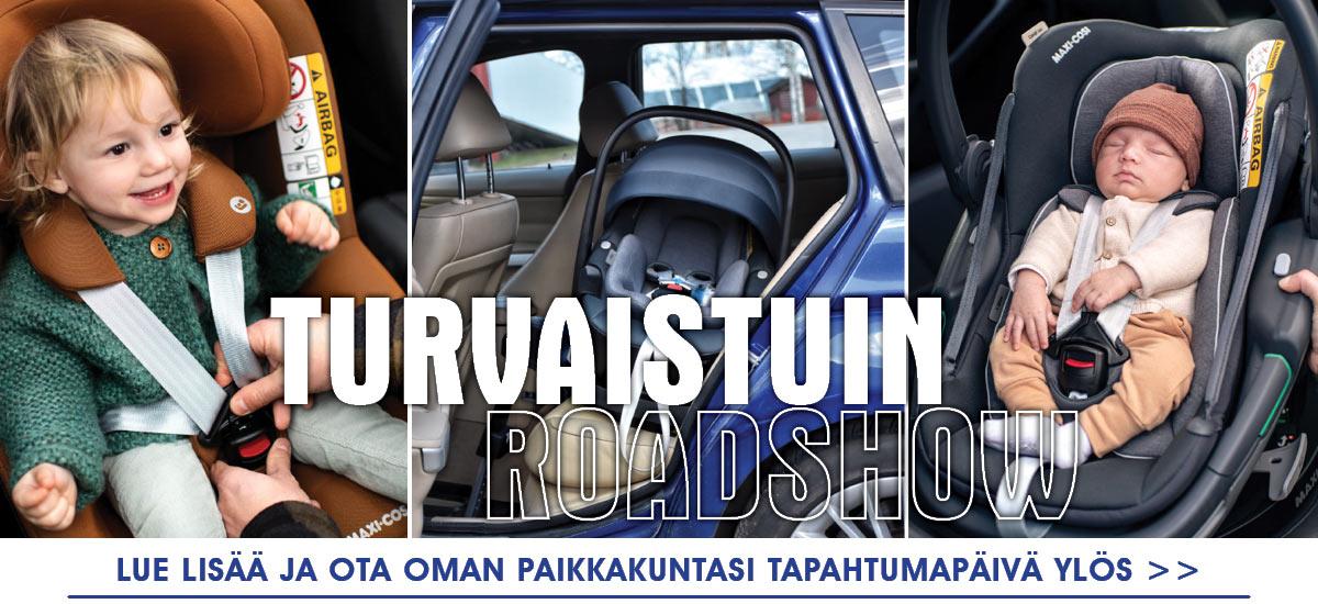 Turvaistuin RoadShow on taas täällä! Katso paikkakuntasi tapahtumapäivä ja tule hyödyntämään asiantuntijoiden neuvot!