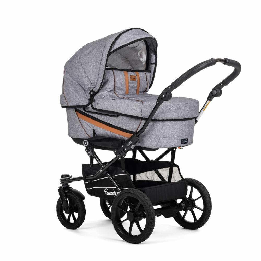 Lastenvaunu Emmaljunga Duo Edge, Outdoor Grey
