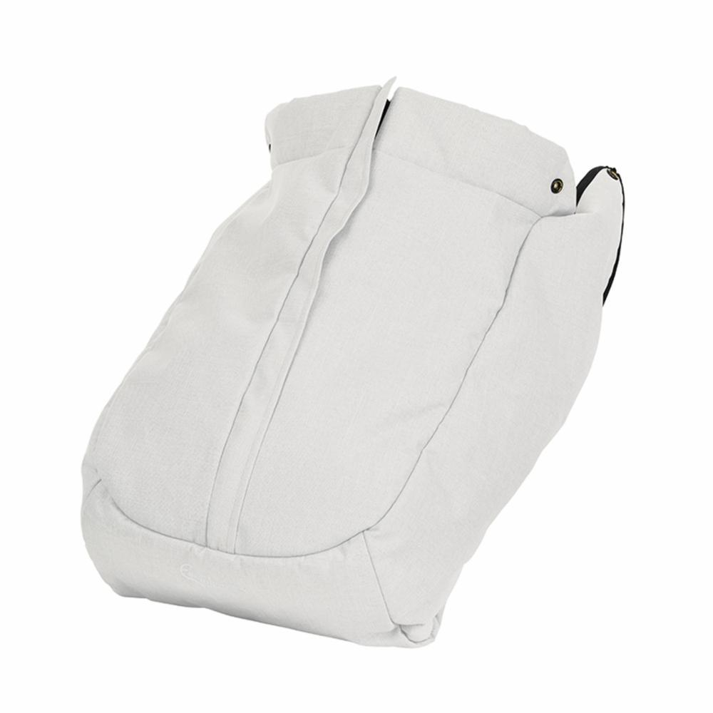 NXT Jalkapeite Flat, White Leatherette