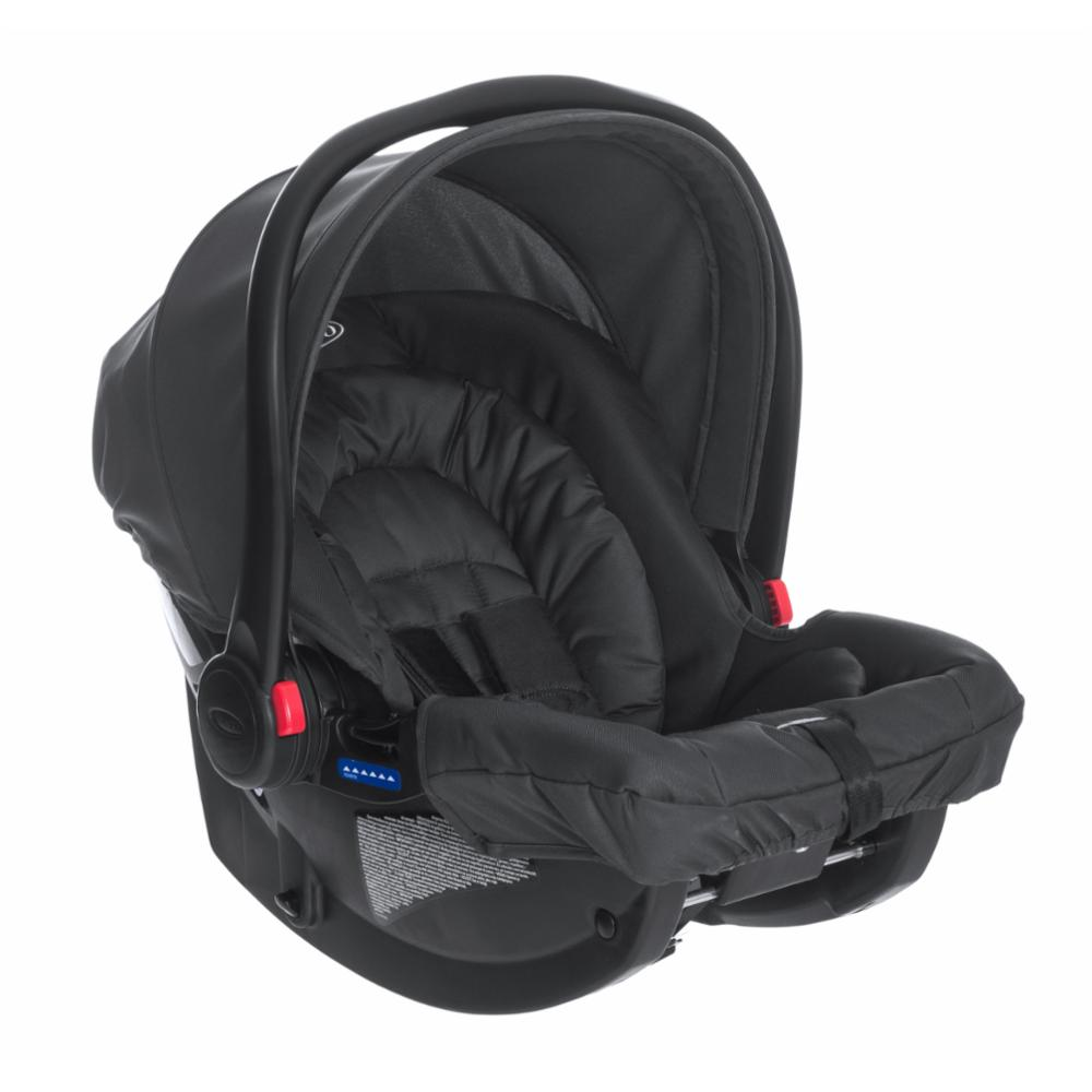Turvakaukalo Graco SnugRide R44, Midnight Black