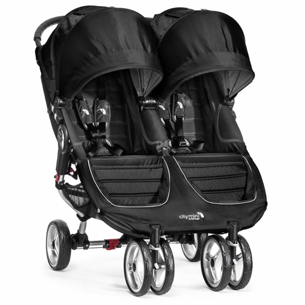 Kaksostenrattaat Baby Jogger City Mini Double, Black/Grey