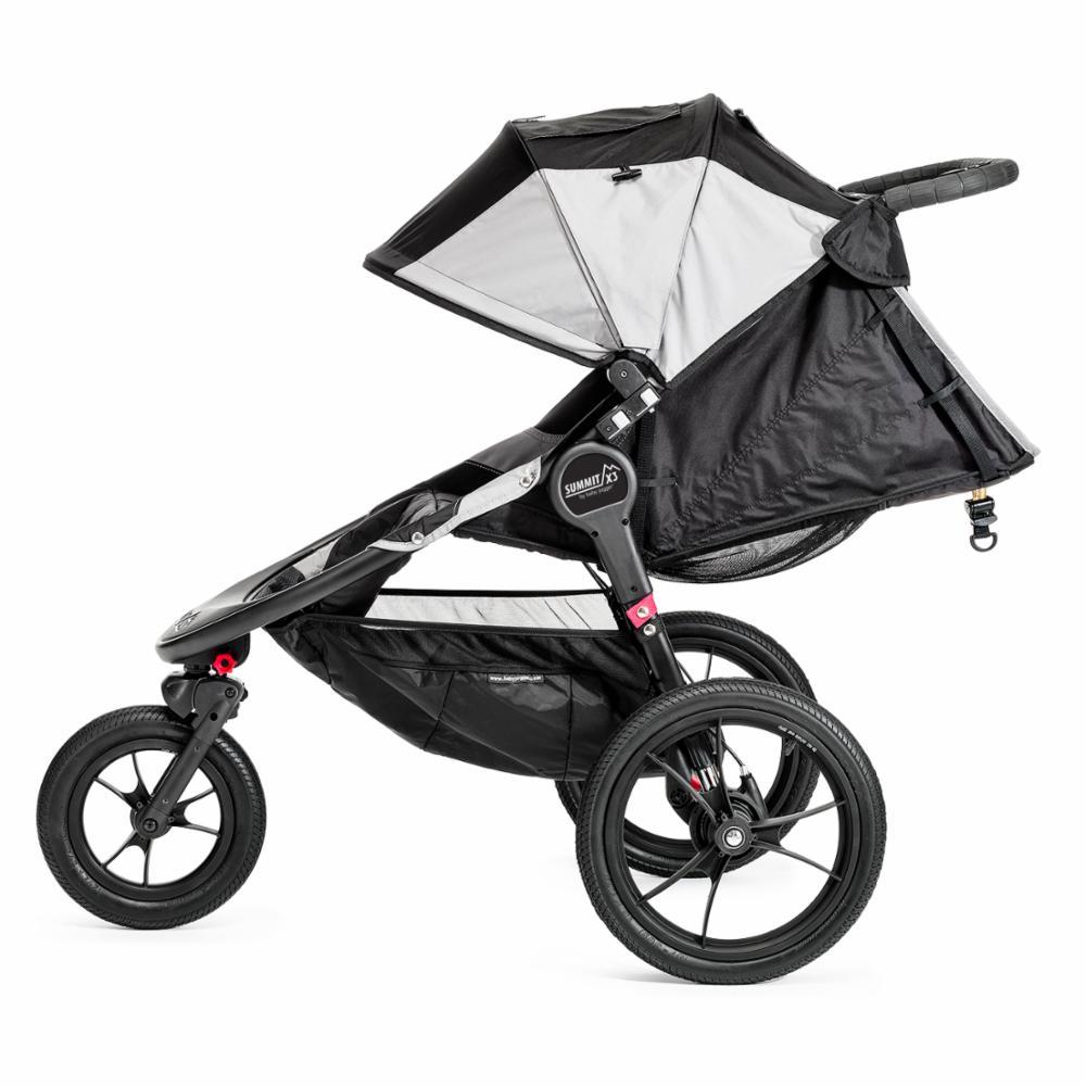 Juoksurattaat Baby Jogger Summit X3, Black/Grey
