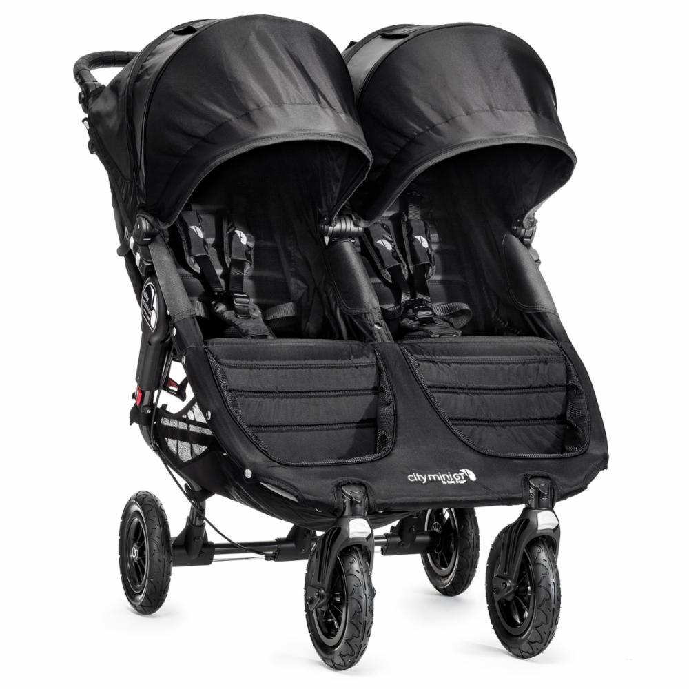 Kaksostenrattaat Baby Jogger City Mini GT Double, Black/Grey