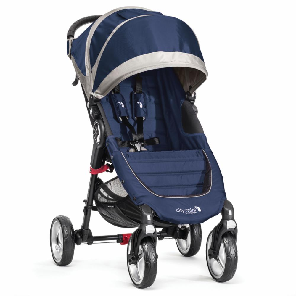Lastenrattaat Baby Jogger City Mini 4 pyörää, Cobalt/Grey