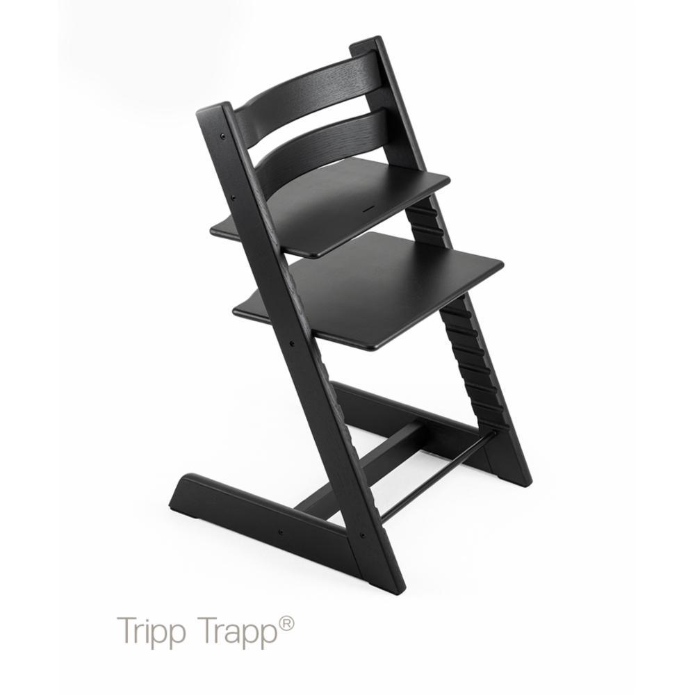 Syöttötuoli Stokke Tripp Trapp OAK, Musta