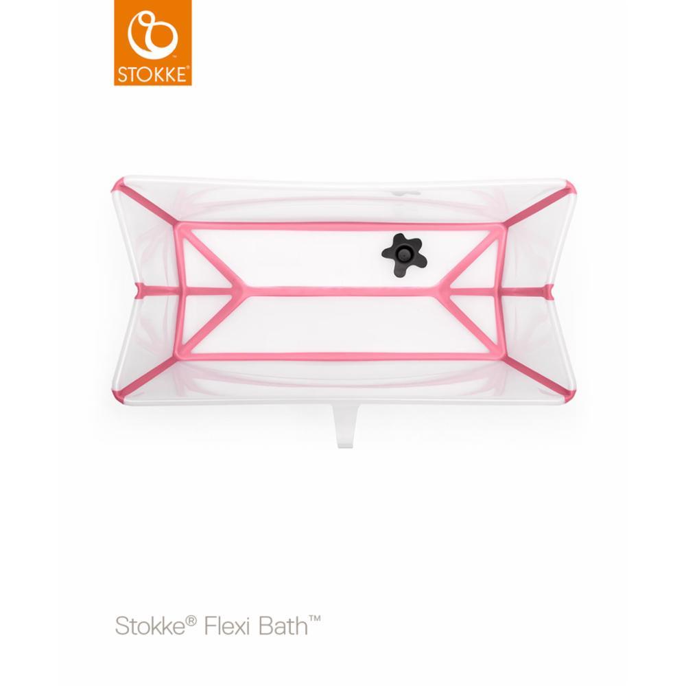 Taittuva amme Stokke Flexi Bath, Transparent pink