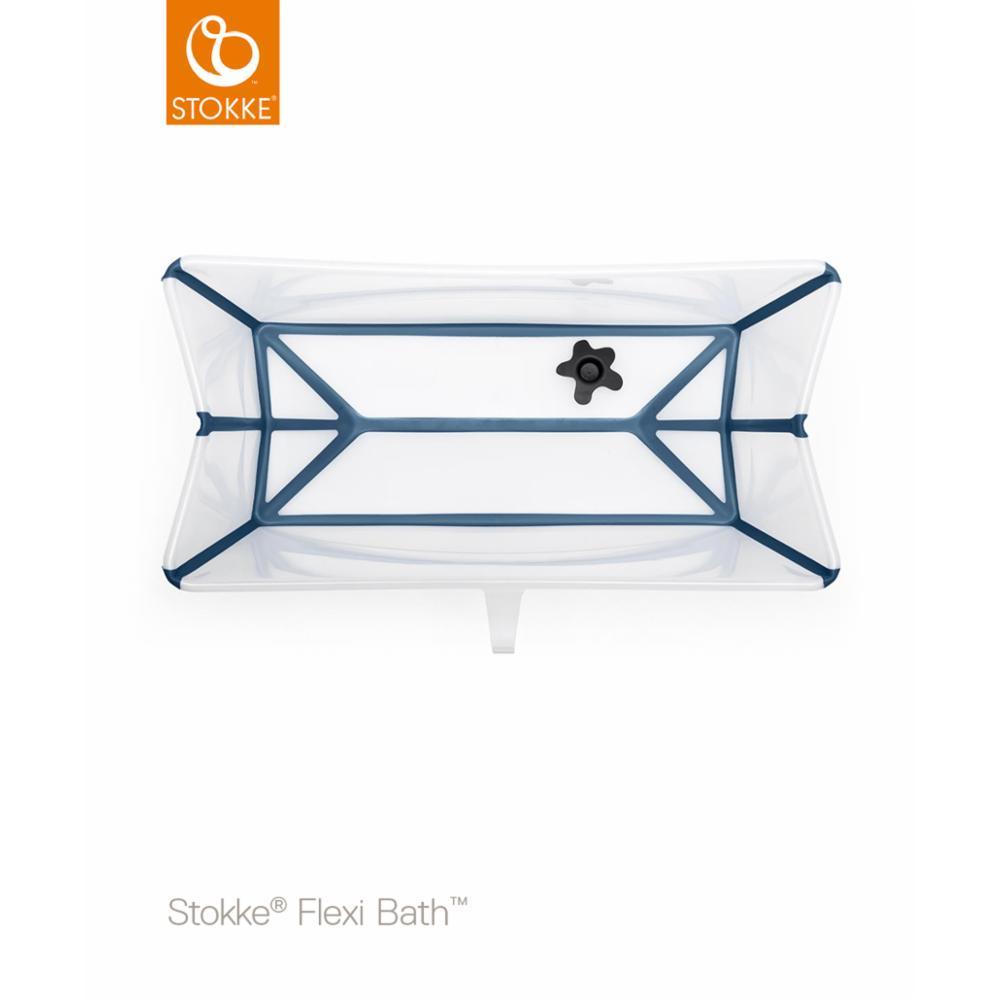 Taittuva amme Stokke Flexi Bath, Transparent blue