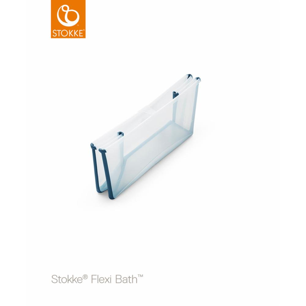 Stokke Flexi Bath Bund, Transparent blue