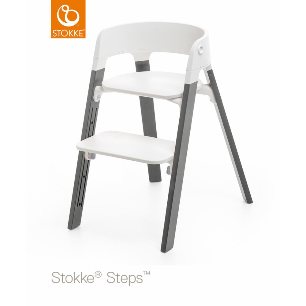 Syöttötuoli Stokke Steps Legs Beech Wood, Grey