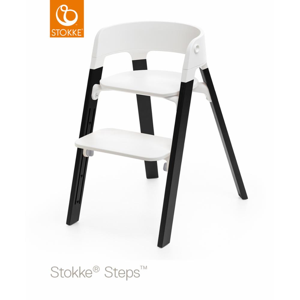 Stokke Steps Legs Oak Wood, Musta