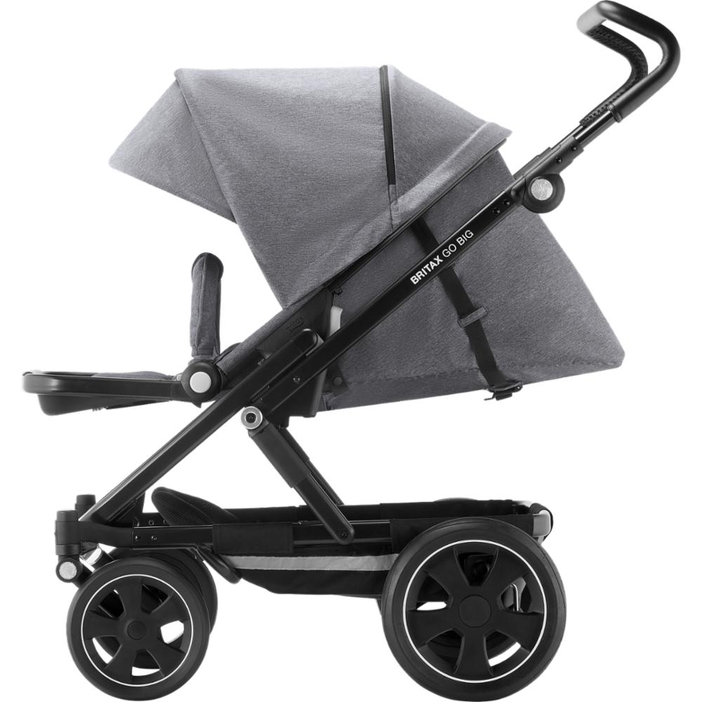 Lastenrattaat Britax Go BIG 2, Grey Melange/Black