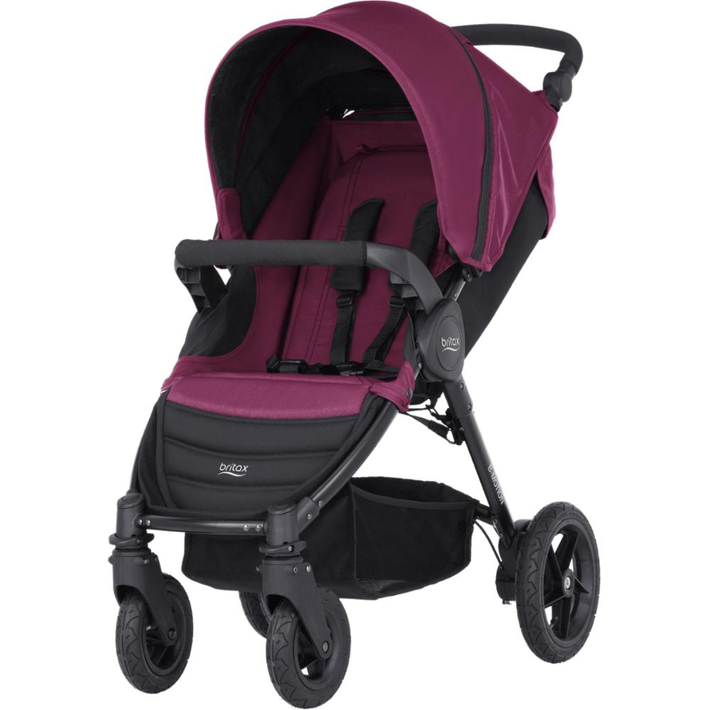Lastenrattaat Britax Motion 4, Wine Red Melagne