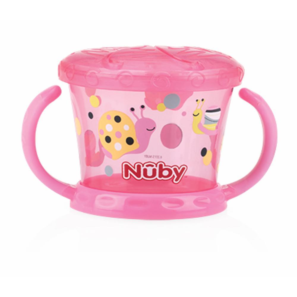 Nuby Snack Muki kannella Design, PINKKI