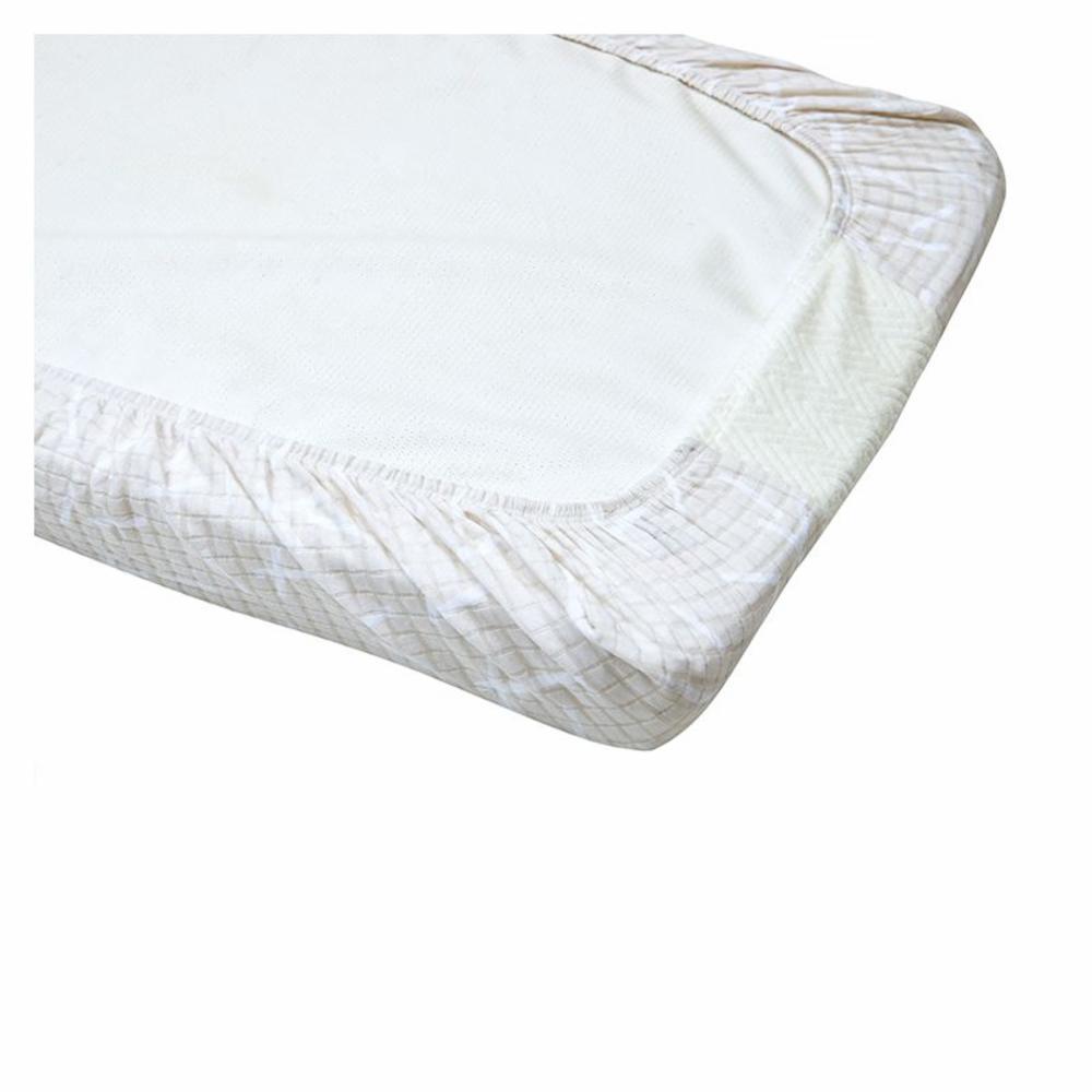 Hoitoalustan suoja Lodger Changer Cotton, Ivory vaalea
