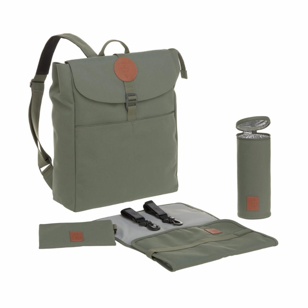 Hoitolaukku Lässig Adventure Backpack, Olive