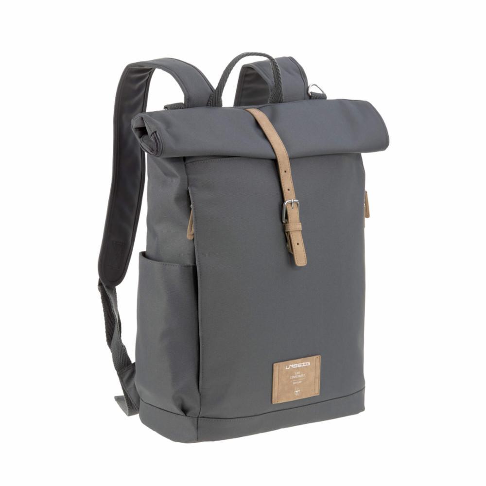 Hoitolaukku Lässig Rolltop Backpack, Anthracite