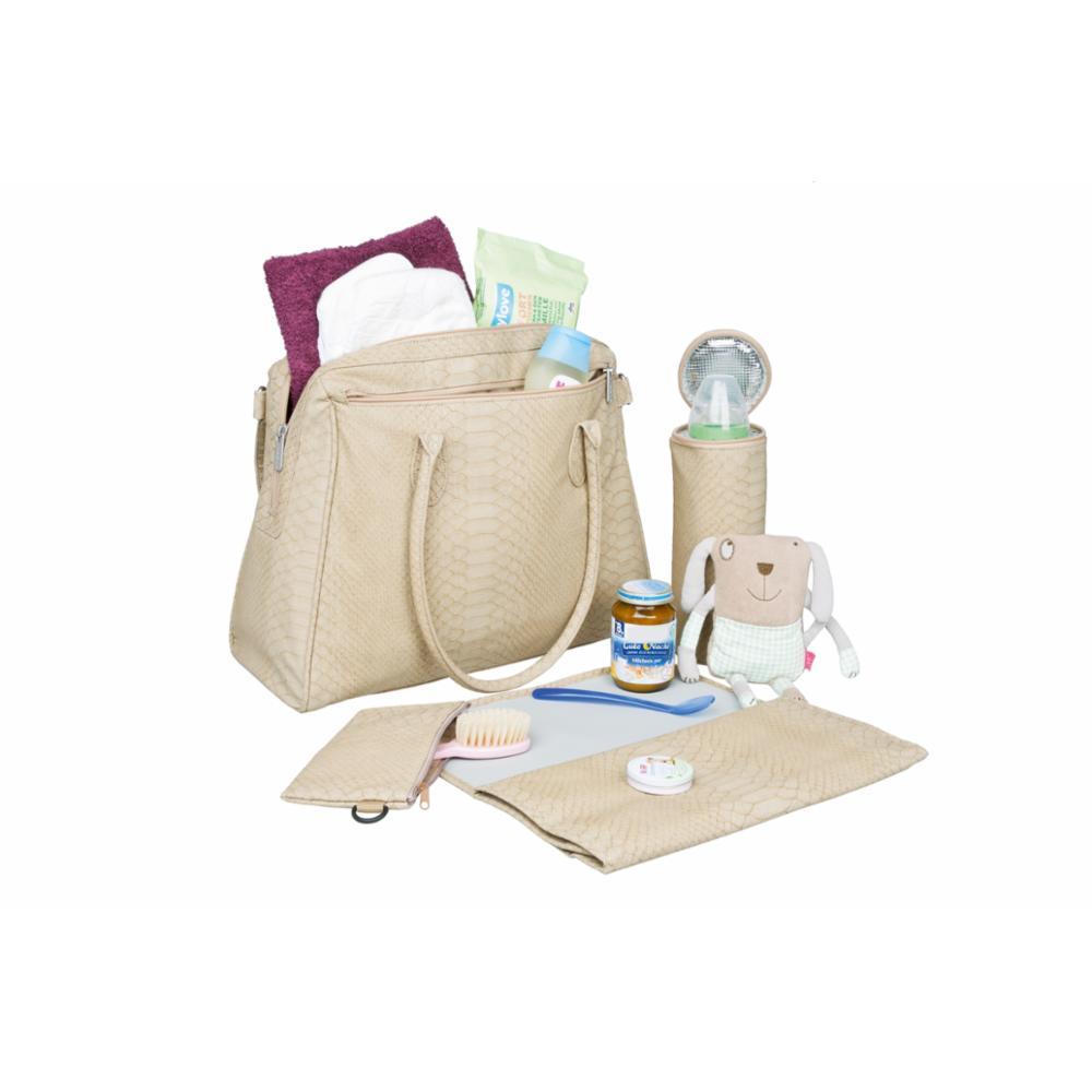 Hoitolaukku Lässig Tender Brief Bag, Beige