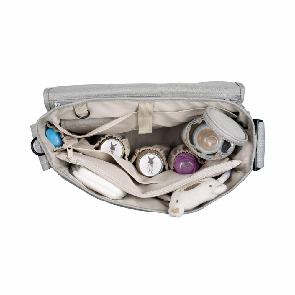 Hoitolaukku Lässig Messenger Bag, Star Light Grey