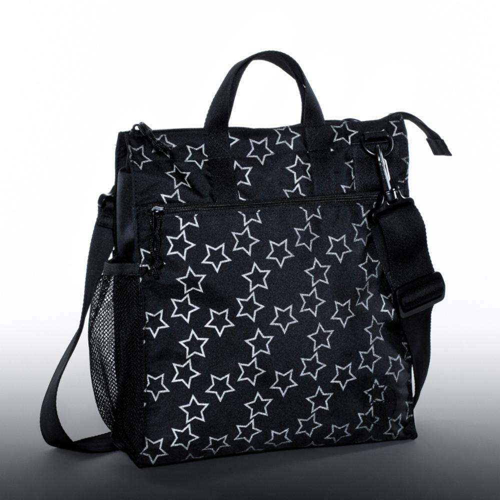 Hoitolaukku Lässig Casual Buggy Bag, Refl. Black
