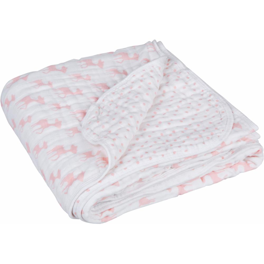Vauvan huopa Lässig Cozy Blanket, Lela Light Pink