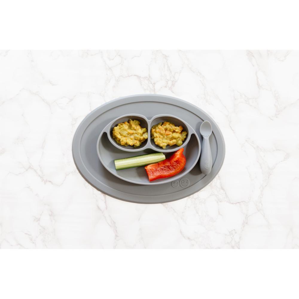 ezpz Mini Mat lasten kulho + ruokailualusta, Gray