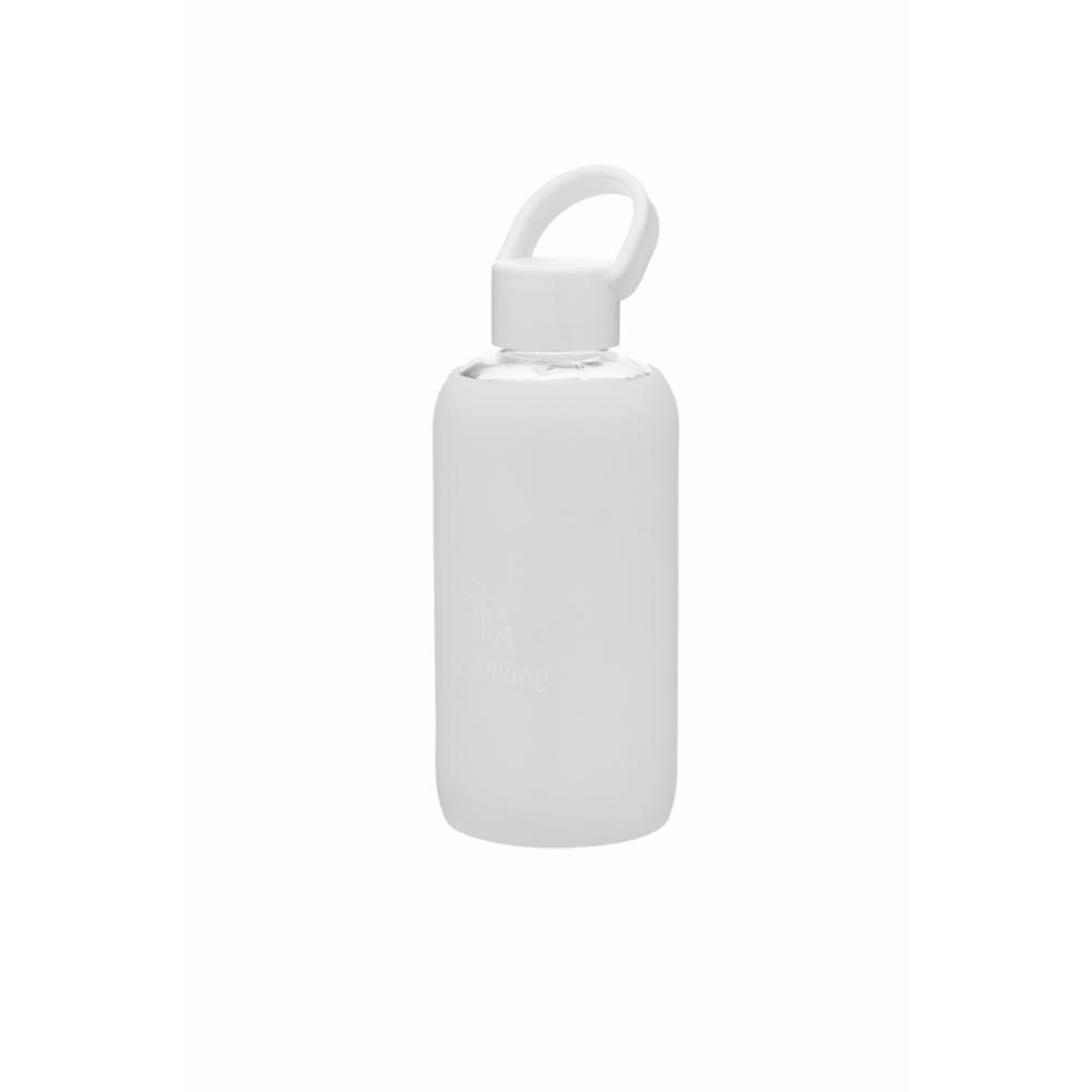 EcoViking Juomapullo Lasi 420ml, Valkoinen