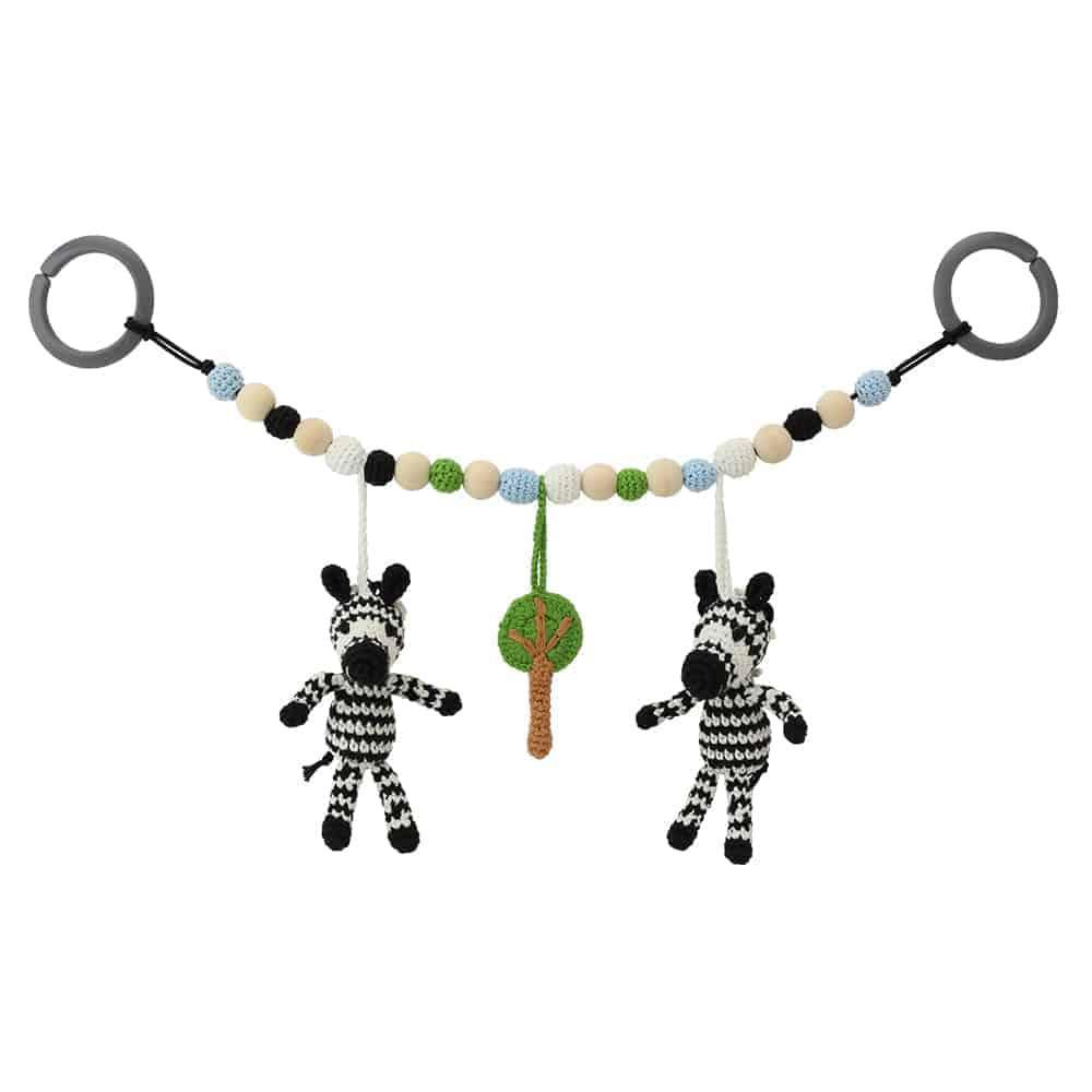Sindibaba Virkattu Vaunulelu, Zebra
