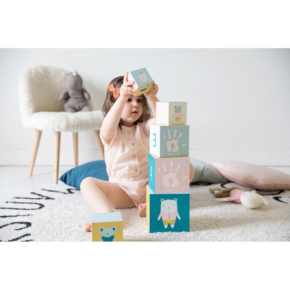 Baby Art Activity Cubes lelukuutiot vauvan kädenjäljillä