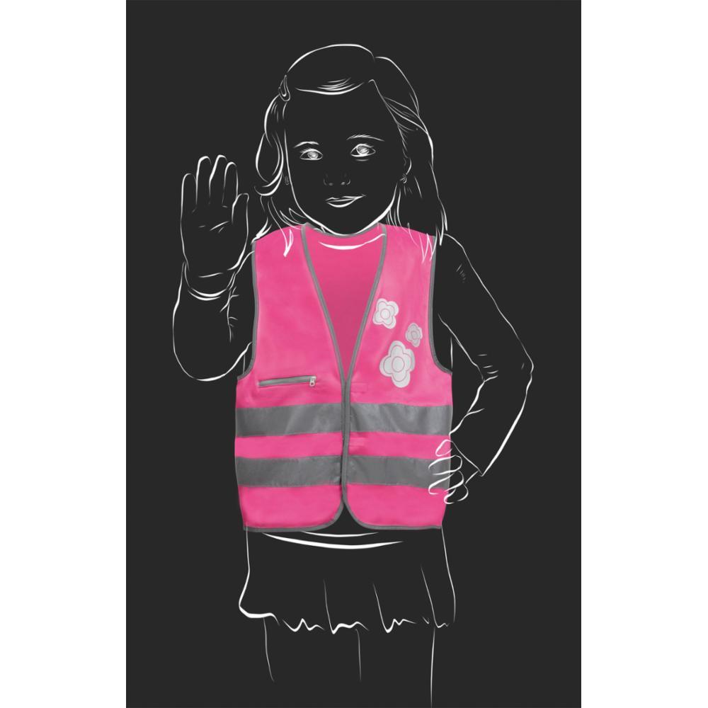 SafetyMaker Heijastinliivi 3-6v, Pinkki