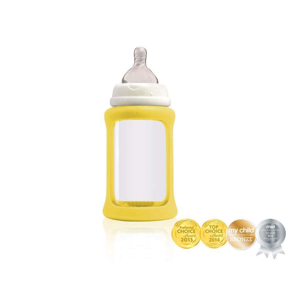 Cherub Baby Lasituttipullo WN 240ml, Keltainen