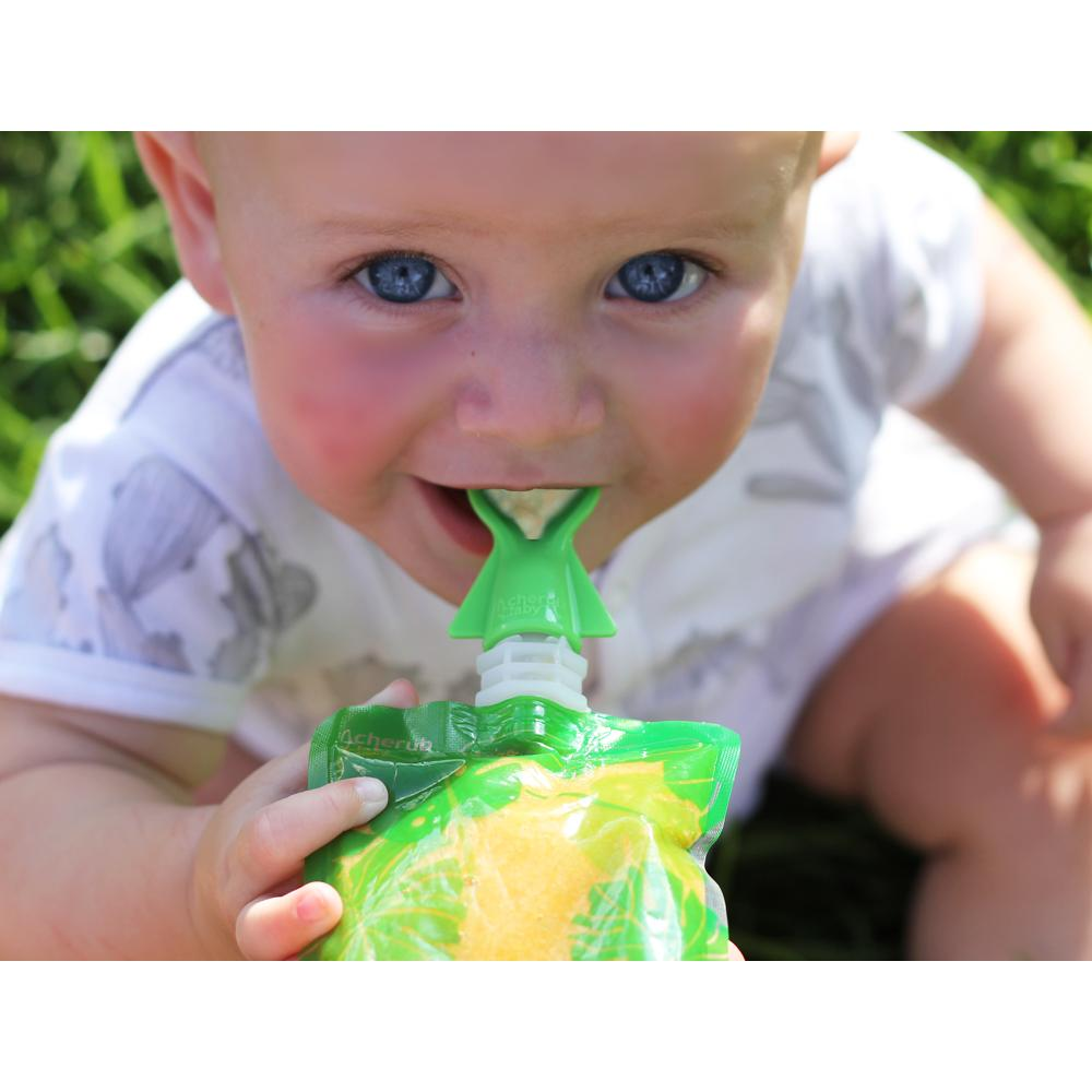 Cherub Baby Ruokapussi adapteri Lusikka 2kpl, Sininen