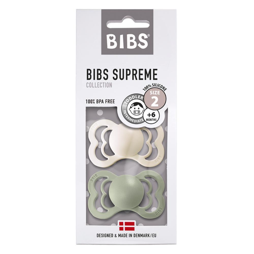 Bibs Supreme 2 Silikonitutti 2, Ivory/Sage